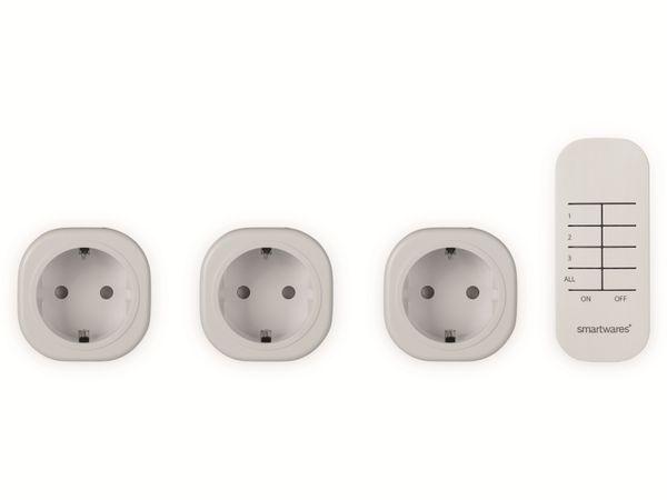 Funksteckdosen-Set SMARTWARES SH4-99566, Mini, Innenbereich - Produktbild 2