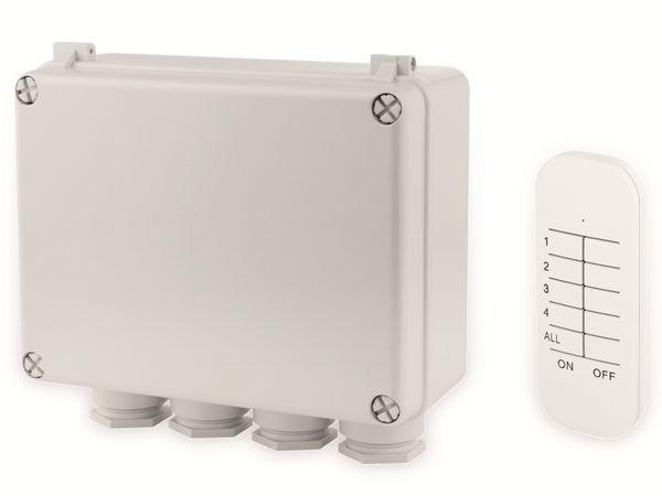 Funk-Schalterbox SMARTWARES SH4-99652, 3-Kanal-Schalter-Set, Außenbereich