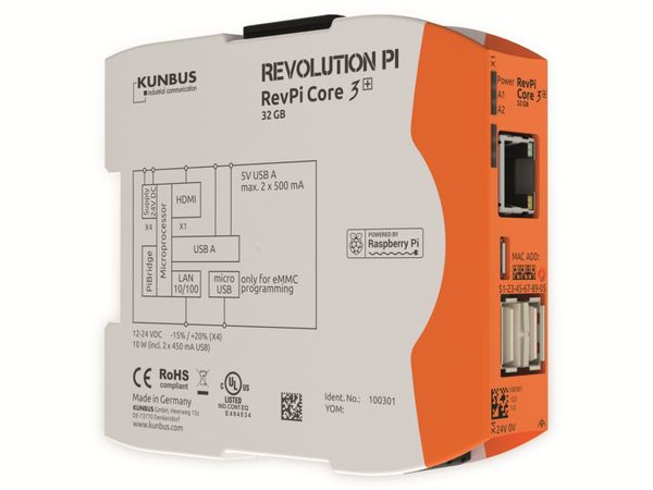 Steuerung KUNBUS RevPi Core 3+ 32 GB