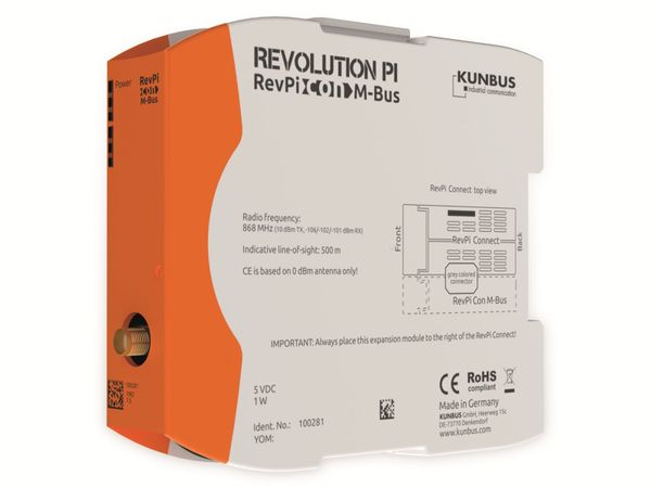 Erweiterungsmodul KUNBUS RevPi Con M-Bus 868 MHz