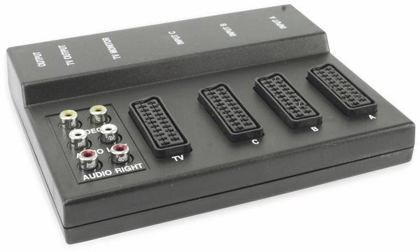 AV-Umschalter EXXTER 105139, 3-fach, mit Kopierfunktion, schwarz - Produktbild 1