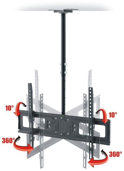 TV-Deckenhalter RED OPTICUM AX Cinema VESA 600x400 mm - Produktbild 3