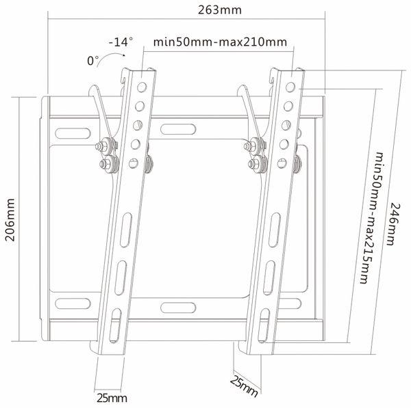 TV-Wandhalter PUREMOUNTS PM-BT200, VESA 200x200mm - Produktbild 4