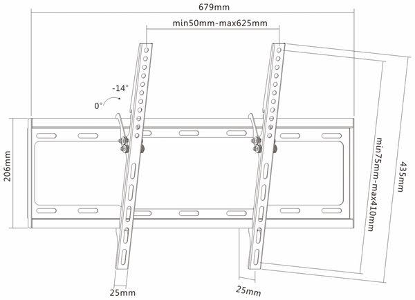 TV-Wandhalter PUREMOUNTS PM-BT600, VESA 600x400mm - Produktbild 4