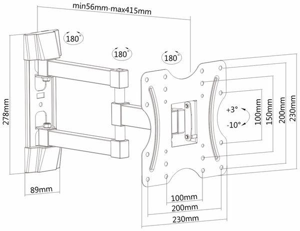 TV-Wandhalter PUREMOUNTS PM-FM12-200, VESA 200x200mm - Produktbild 4