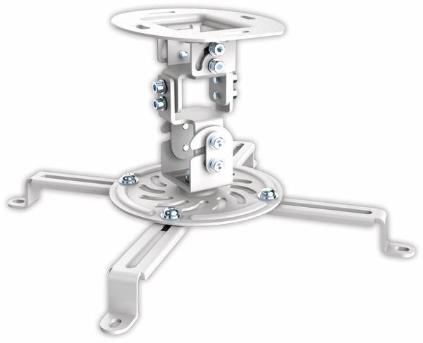 Beamer-Deckenhalterung PUREMOUNTS PM-Spider-10W, 54...320mm, weiß - Produktbild 1