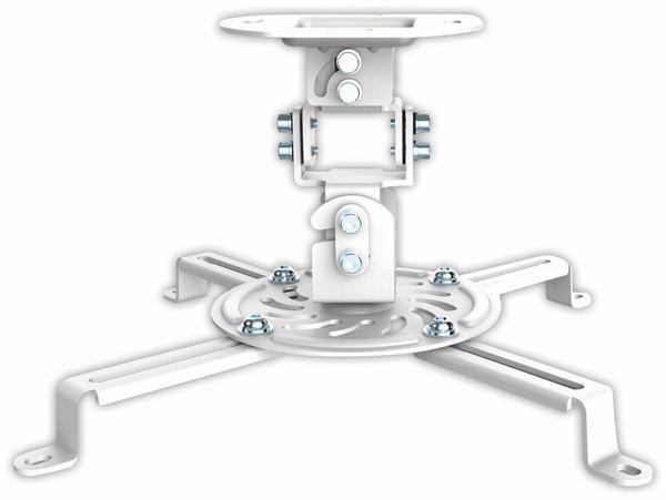 Beamer-Deckenhalterung PUREMOUNTS PM-Spider-10W, 54...320mm, weiß - Produktbild 2