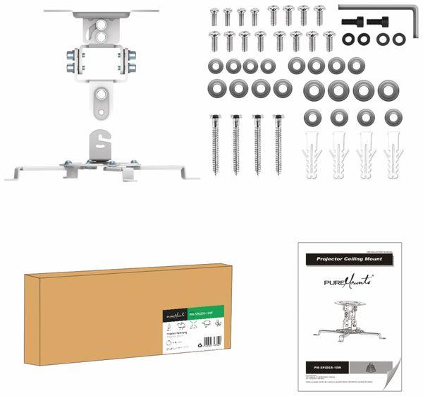 Beamer-Deckenhalterung PUREMOUNTS PM-Spider-10W, 54...320mm, weiß - Produktbild 5