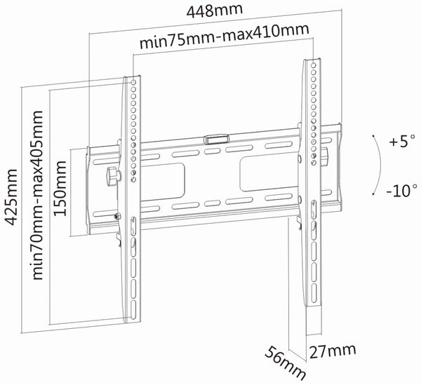 TV-Wandhalter PUREMOUNTS PM-T400, VESA 400x400mm - Produktbild 4