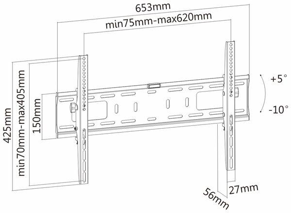 TV-Wandhalter PUREMOUNTS PM-T600, VESA 600x400mm - Produktbild 4
