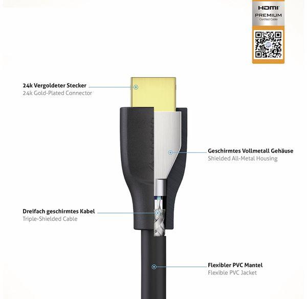 HDMI-Kabel SONERO, Premium High Speed mit Ethernet, 0,5 m - Produktbild 3