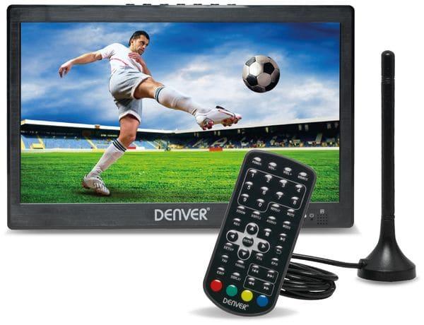 """Portabler LED-TV DENVER LED-1031, 10"""", DVB-T2, Akku, stereo"""