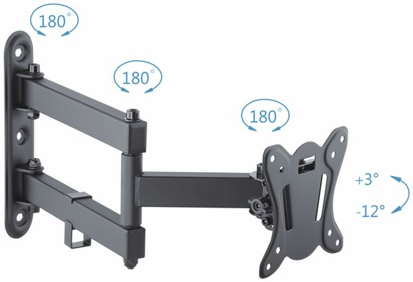 TV-Wandhalter PUREMOUNTS PM-FM12-100, VESA 100x100mm - Produktbild 2