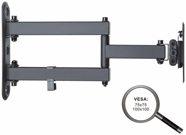 TV-Wandhalter PUREMOUNTS PM-FM12-100, VESA 100x100mm - Produktbild 3