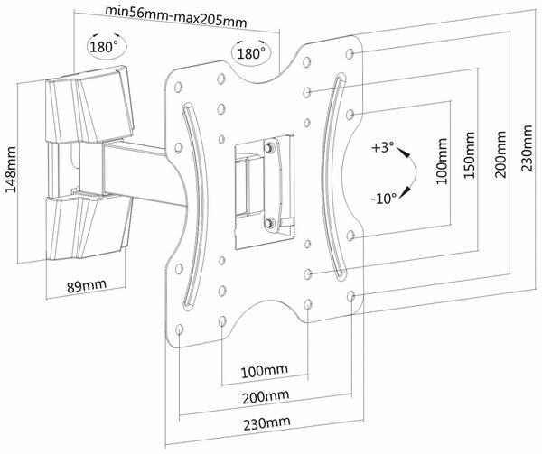 TV-Wandhalter PUREMOUNTS PM-FM10-200, VESA 200x200mm - Produktbild 4