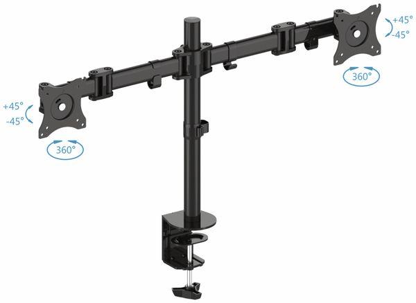 LCD-Schreibtischhalter PUREMOUNTS PM-Office-02, VESA 100x100mm - Produktbild 2