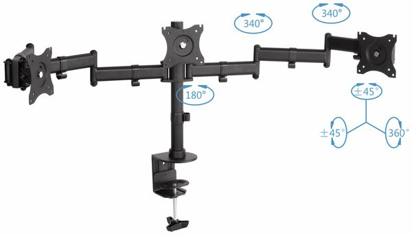 LCD-Schreibtischhalter PUREMOUNTS PM-Office-03, VESA 100x100mm - Produktbild 2