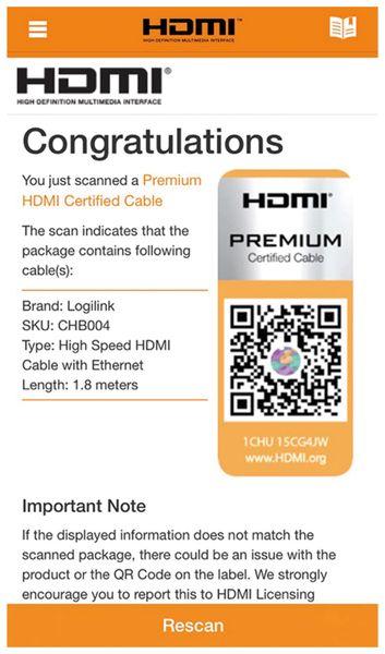 HDMI Kabel LOGILINK CHB004, Premium, 1,8 m, für Ultra HD - Produktbild 4