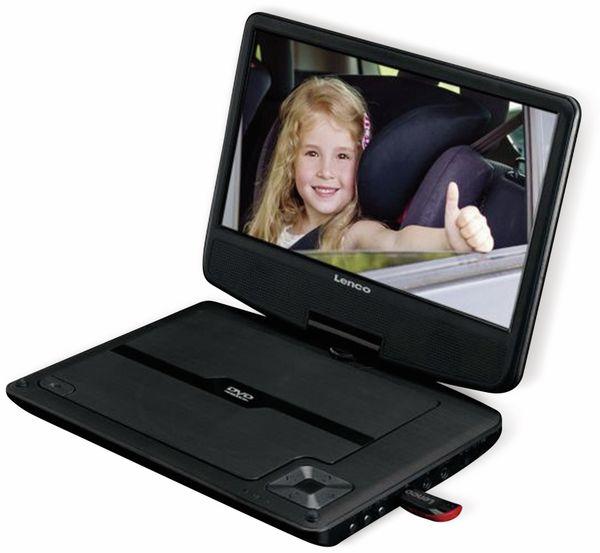 """Portabler DVD-Player LENCO DVP-947BK, 9"""" (22,5 cm) - Produktbild 3"""
