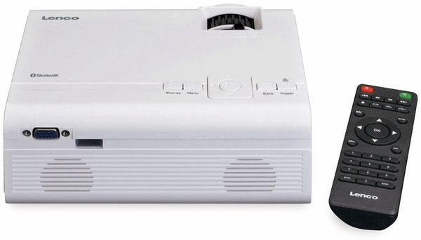 Beamer LENCO LPJ-300WH, weiß - Produktbild 3