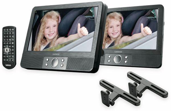 """Portabler DVD-Player LENCO MES-405, Doppel-TFT-Bildschirm 9"""" (22,5 cm)"""