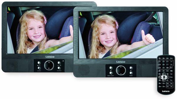 """Portabler DVD-Player LENCO MES-405, Doppel-TFT-Bildschirm 9"""" (22,5 cm) - Produktbild 2"""