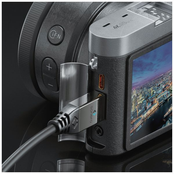 HDMI Kabel SONERO, A/C, 4K, 1 m, schwarz - Produktbild 3