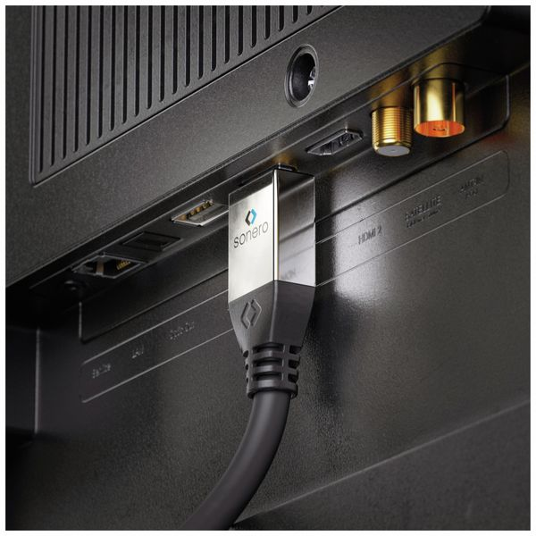 HDMI Kabel SONERO, A/D, 4K, 3 m, schwarz - Produktbild 4