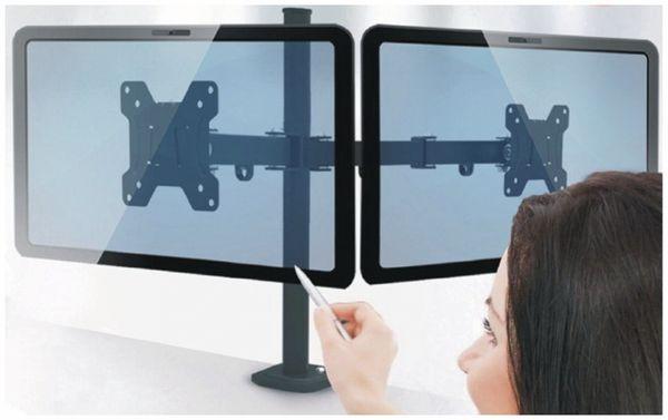 LCD-Schreibtischhalter RED OPTICUM Pixel Twin, für 2 Monitore - Produktbild 2