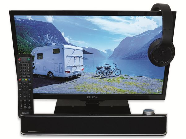 "LED-TV FALCON Travel TV, 19"" (48 cm), Full HD, EEK: A+, mit DVD-Player - Produktbild 3"