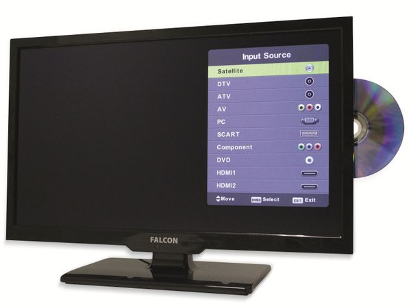 "LED-TV FALCON Travel-TV, 24"" (61 cm), Full HD, EEK: A+, mit DVD-Player - Produktbild 6"