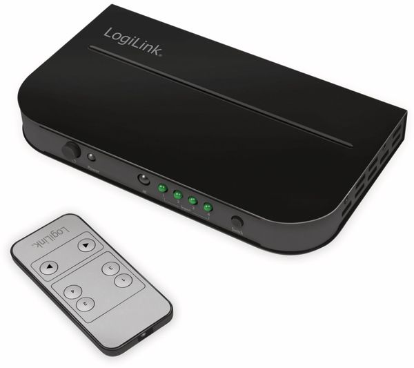 HDMI-Switch LOGILINK HD0035, 4-Port, 4K, HDMI 2.0