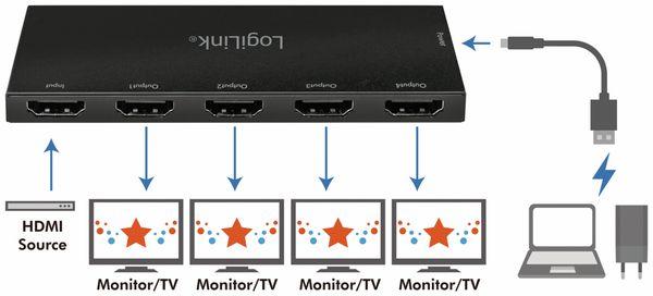 HDMI-Splitter LOGILINK CV0141, Ultra Slim, 4K Pro 1 zu 4x Splitter - Produktbild 7