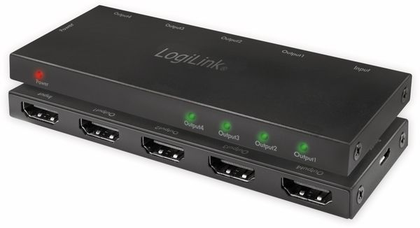 HDMI-Splitter LOGILINK CV0141, Ultra Slim, 4K Pro 1 zu 4x Splitter - Produktbild 8
