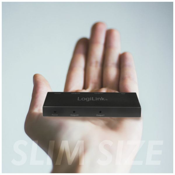 HDMI-Splitter LOGILINK CV0140, Ultra Slim, 4K Pro 1 zu 2x Splitter - Produktbild 2