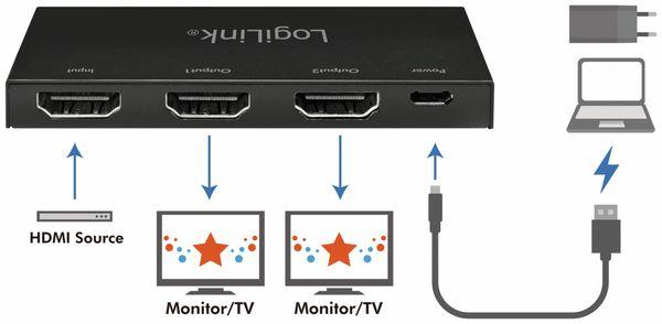 HDMI-Splitter LOGILINK CV0140, Ultra Slim, 4K Pro 1 zu 2x Splitter - Produktbild 7