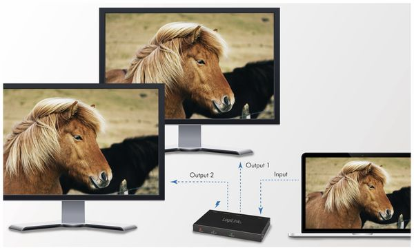 HDMI-Splitter LOGILINK CV0140, Ultra Slim, 4K Pro 1 zu 2x Splitter - Produktbild 9