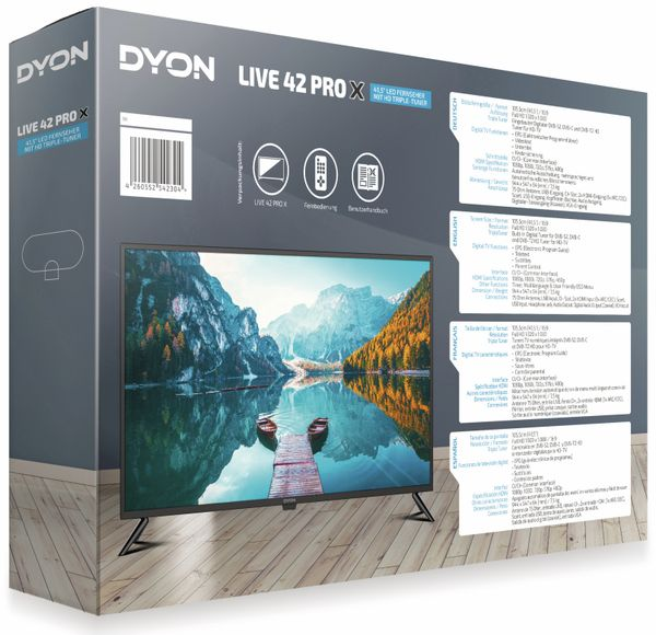 "LED-TV DYON Live 42 Pro X, inkl. HD+, EEK F, 41,5"" (105,4 cm) - Produktbild 2"