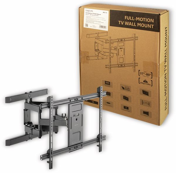 "LCD/Plasma-Wandhalter LOGILINK BP0114, 37...80"", neigbar, schwenkbar, drehbar - Produktbild 5"