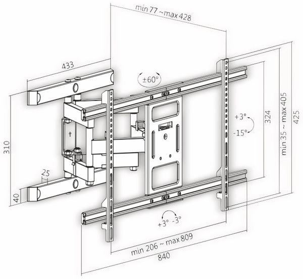 "LCD/Plasma-Wandhalter LOGILINK BP0115, 43...90"", neigbar, schwenkbar, drehbar - Produktbild 2"