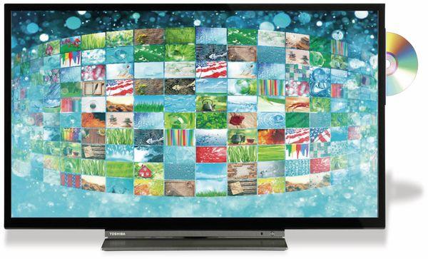"LED-TV TOSHIBA WD3A63DA, EEK: A+, 32"" (80 cm), schwarz, mit DVD Player"