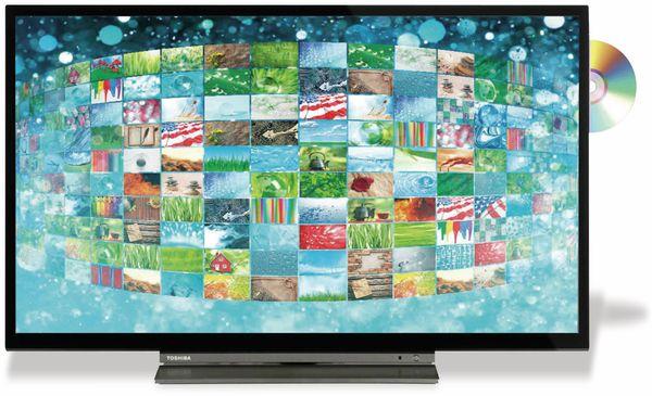 "LED-TV TOSHIBA WD3A63DA, EEK: A+, 32"" (80 cm), schwarz, mit DVD Player - Produktbild 2"