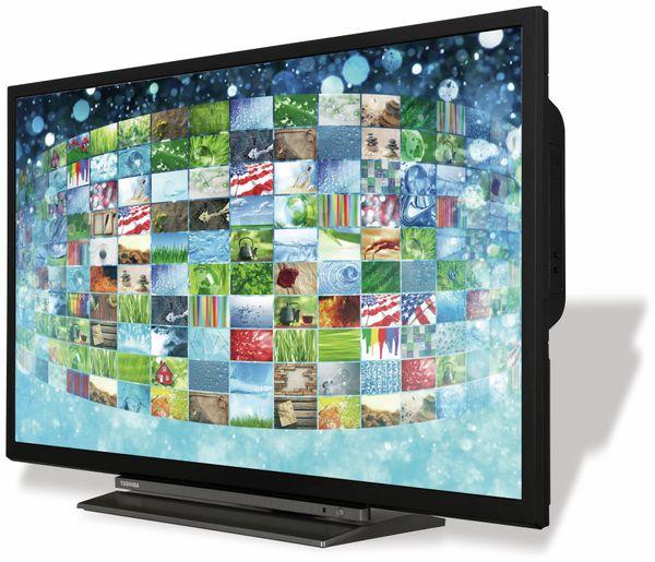 "LED-TV TOSHIBA WD3A63DA, EEK: A+, 32"" (80 cm), schwarz, mit DVD Player - Produktbild 4"