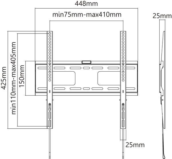 "TV-Wandhalter GOOBAY Pro FIXED M, 32...55"" (81...140 cm) - Produktbild 8"