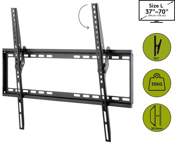 "TV-Wandhalter GOOBAY Basic TILT L, 37...70"" (94...178 cm), 8° neigbar - Produktbild 3"