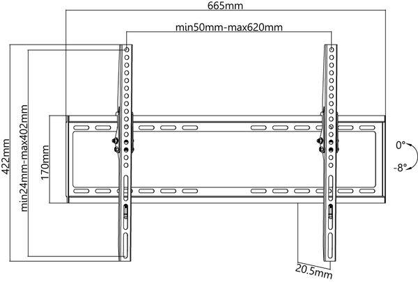 "TV-Wandhalter GOOBAY Basic TILT L, 37...70"" (94...178 cm), 8° neigbar - Produktbild 4"