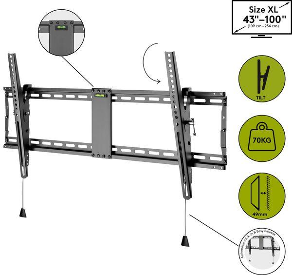 "TV-Wandhalter GOOBAY Pro TILT XL, 43...100"" (109...254 cm), 12° neigbar - Produktbild 6"