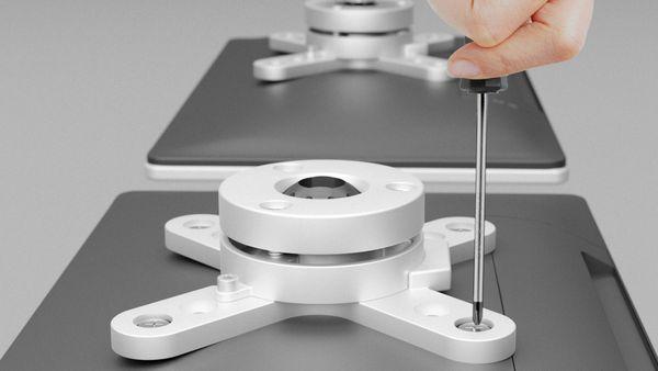 """Monitorhalterung GOOBAY Basic TWIN M, 13...23"""" (33...58 cm) - Produktbild 4"""
