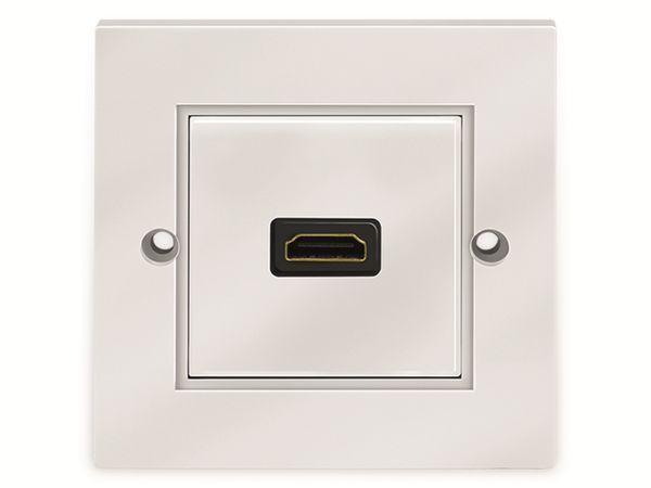 HDMI-Wanddose LOGILINK, 1-Port, weiß - Produktbild 2