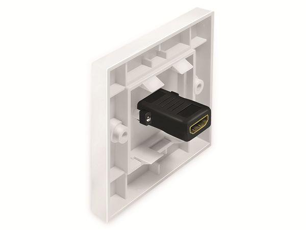 HDMI-Wanddose LOGILINK, 1-Port, weiß - Produktbild 3